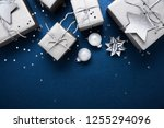 merry christmas and happy... | Shutterstock . vector #1255294096