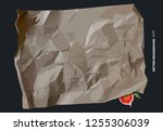 type of food parchment and... | Shutterstock .eps vector #1255306039