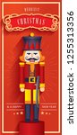 nutcracker christmas greetings... | Shutterstock .eps vector #1255313356