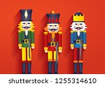 nutcracker christmas greetings... | Shutterstock .eps vector #1255314610