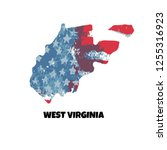 state of west virginia. united...   Shutterstock .eps vector #1255316923