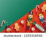 christmas greetings template... | Shutterstock .eps vector #1255318540