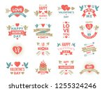 labels and symbols of loves. st ... | Shutterstock . vector #1255324246