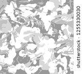 winter white urban camouflage ... | Shutterstock .eps vector #1255330030