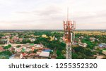 signal tower in city | Shutterstock . vector #1255352320