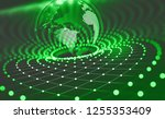 planet earth in the era of...   Shutterstock . vector #1255353409