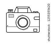 photographic camera icon  photo ... | Shutterstock .eps vector #1255355620