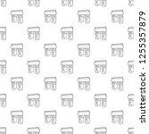 triumphal arch pattern seamless ... | Shutterstock . vector #1255357879