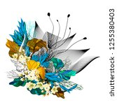 floral creative abstraction.... | Shutterstock .eps vector #1255380403