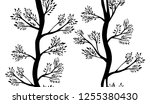 seamless pattern of decorative... | Shutterstock .eps vector #1255380430