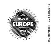 made in europe emblem  label ... | Shutterstock .eps vector #1255383943