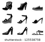 set of icons of womanish shoe....