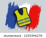 vector illustration of a yellow ... | Shutterstock .eps vector #1255396270
