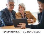 modern senior couple going...   Shutterstock . vector #1255404100