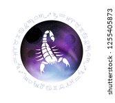 scorpio zodiac sign. abstract...   Shutterstock .eps vector #1255405873