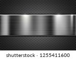 metal perforated texture with...   Shutterstock .eps vector #1255411600