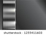 metal perforated texture with...   Shutterstock .eps vector #1255411603