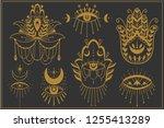 evil seeing eye symbol set.... | Shutterstock .eps vector #1255413289