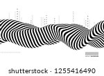 black and white design. pattern ... | Shutterstock .eps vector #1255416490