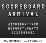 illustration alphabet on... | Shutterstock . vector #1255428349