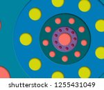 abstract paper cut background...   Shutterstock .eps vector #1255431049