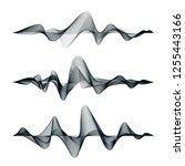 sound waves track design. set... | Shutterstock . vector #1255443166