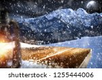 table background with blured... | Shutterstock . vector #1255444006