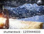 table background with blured... | Shutterstock . vector #1255444033