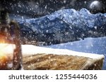 table background with blured... | Shutterstock . vector #1255444036