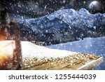 table background with blured... | Shutterstock . vector #1255444039