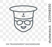 sailor face icon. trendy flat... | Shutterstock .eps vector #1255448350
