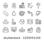 set of celebration icons  such... | Shutterstock .eps vector #1255451143
