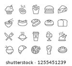 set of food icons  such as... | Shutterstock .eps vector #1255451239
