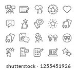 set of feedback line icons ... | Shutterstock .eps vector #1255451926