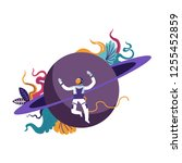 astronaut wearing special... | Shutterstock .eps vector #1255452859