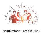 watching online together vector ...   Shutterstock .eps vector #1255453423
