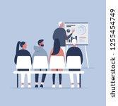 staff education. office...   Shutterstock .eps vector #1255454749