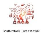 business presentation vector... | Shutterstock .eps vector #1255456930