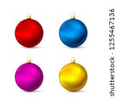 realistic multicolored... | Shutterstock . vector #1255467136