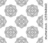 eastern black and white flower... | Shutterstock .eps vector #1255468660
