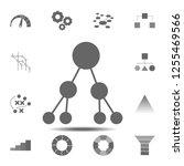 binary tree icon. simple glyph...