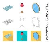 vector illustration of bedroom...   Shutterstock .eps vector #1255474189