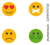 emoji  emoticons face... | Shutterstock .eps vector #1255474723