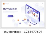 landing page with giant... | Shutterstock .eps vector #1255477609