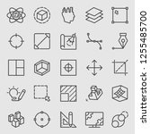 line icons set for design | Shutterstock .eps vector #1255485700