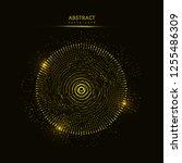 abstract 3d big data... | Shutterstock .eps vector #1255486309