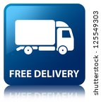 free delivery glossy blue... | Shutterstock . vector #125549303