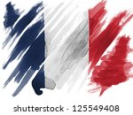 France. French Flag  Painted...
