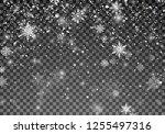 snowfall template. christmas... | Shutterstock . vector #1255497316