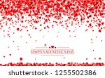 red pattern of random falling... | Shutterstock .eps vector #1255502386